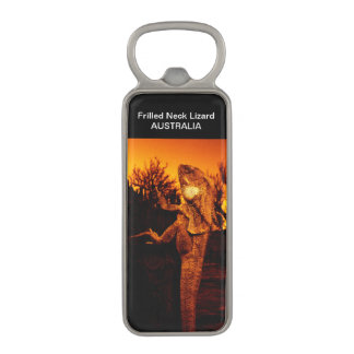 Australian Frilled Neck Lizard Souvenir Magnetic Bottle Opener