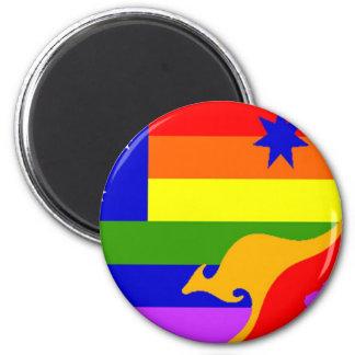 Australian Gay Pride Flag 2 Inch Round Magnet