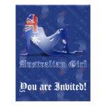 Australian Girl Silhouette Flag Announcements