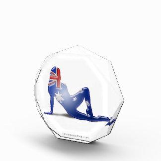 Australian Girl Silhouette Flag Award