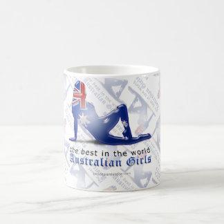 Australian Girl Silhouette Flag Coffee Mug