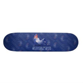 Australian Girl Silhouette Flag Skateboard Deck