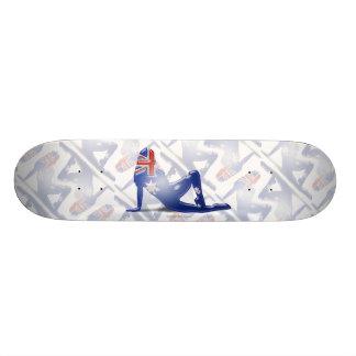 Australian Girl Silhouette Flag Skateboard Decks
