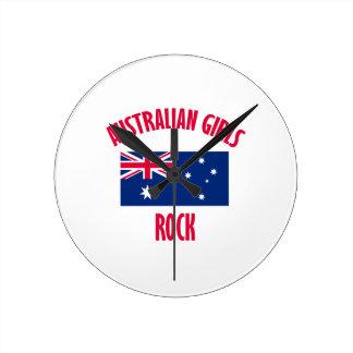 Australian girls DESIGNS Round Clock