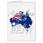 Australian Girls Do It Best! Card
