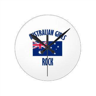 Australian girls  rock DESIGNS Round Clock
