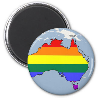 Australian GLBT Pride 2 Inch Round Magnet
