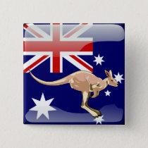 Australian glossy flag button