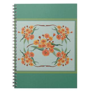 Australian gum tree blossoms spiral notebook