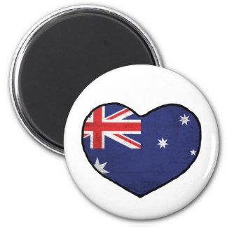 Australian Heart 2 Inch Round Magnet