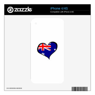 AUSTRALIAN HEART FLAG iPhone 4 SKIN