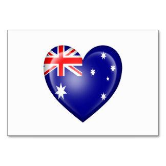 Australian Heart Flag on White Card