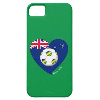 """Australian Heart Soccer. Soccer of """"AUSTRALIA """" iPhone SE/5/5s Case"""