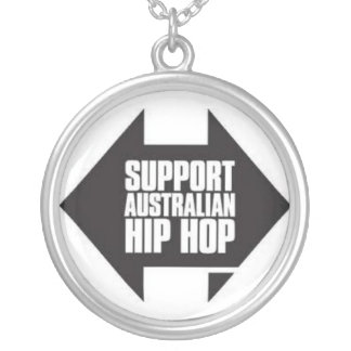 australian HIP HOP supporter Silver Plated Necklace
