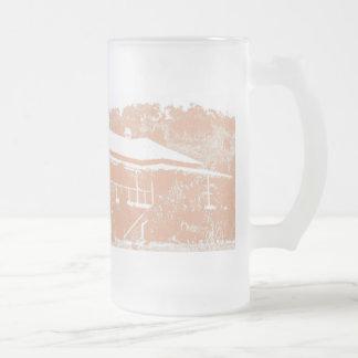 Australian Homestead Frosted Glass Beer Mug