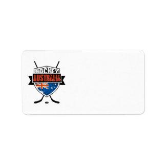 Australian Ice Hockey Flag Logo Address Label