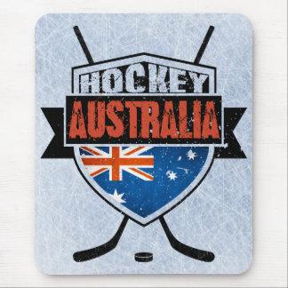 Australian Ice Hockey Flag Logo Mouse Pad
