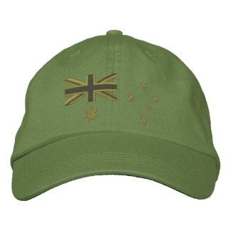 Australian Kaki Flag Embroidery Cap