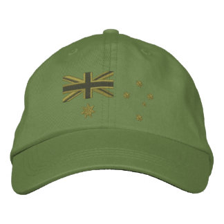 Australian Kaki Flag Embroidery Embroidered Hat