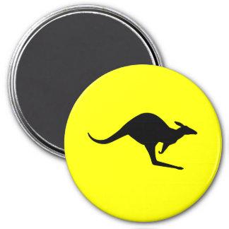 Australian Kangaroo 3 Inch Round Magnet
