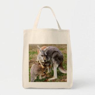 Australian Kangaroo and Baby Joey Wildlife Photo Tote Bag