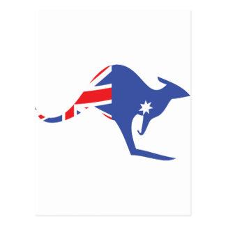 australian kangaroo postcard