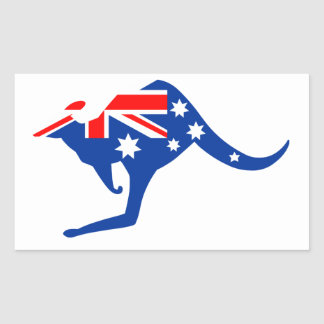 Australian Kangaroo Rectangular Sticker