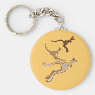 Australian kangaroos basic round button keychain