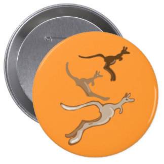 Australian Kangaroos Pinback Button