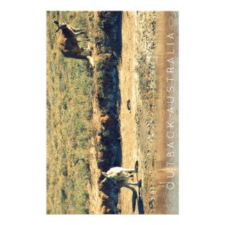 Australian kangoroo stationery