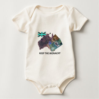 Australian Keep the Monarchy Logo Baby Bodysuit
