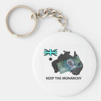 Australian Keep the Monarchy Logo Basic Round Button Keychain