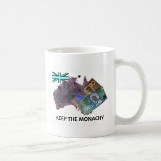 Australian Keep the Monarchy Logo Coffee Mugs