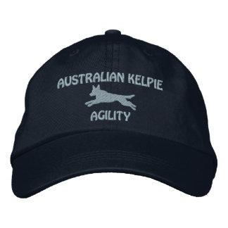 Australian Kelpie Agility Embroidered Hat (Blue)