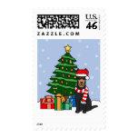 Australian Kelpie and Christmas Tree Postage Stamps