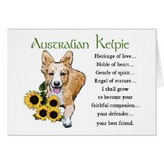 Australian Kelpie Art Gifts card