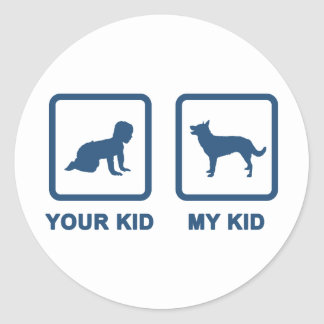 Australian Kelpie Classic Round Sticker