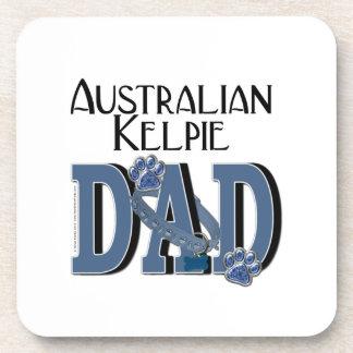 Australian Kelpie DAD Beverage Coasters