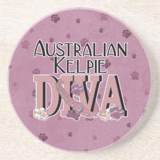 Australian Kelpie DIVA Drink Coasters
