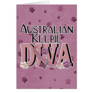 Australian Kelpie DIVA Greeting Card