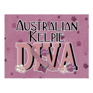Australian Kelpie DIVA Postcard