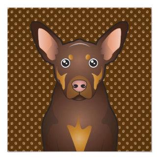 Australian Kelpie Dog Cartoon Paws Art Photo