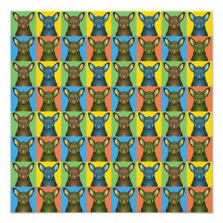 Australian Kelpie Dog Cartoon Pop-Art Photographic Print