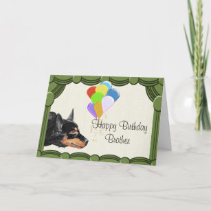 australian kelpie happy birthday brother card