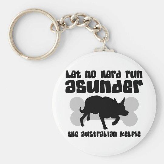 Australian Kelpie Herding Keychain