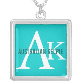 Australian Kelpie Monogram Silver Plated Necklace