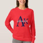 Australian Kelpie Monogram T-Shirt
