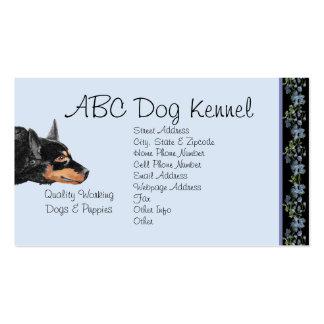 Australian Kelpie on Black Bluebells Double-Sided Standard Business Cards (Pack Of 100)