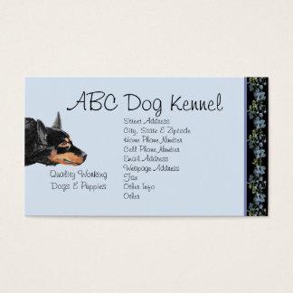 Australian Kelpie on Black Bluebells Business Card