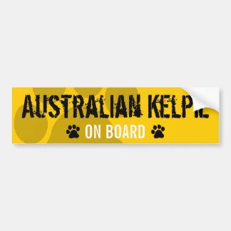 Australian Kelpie on Board Bumper Stickers